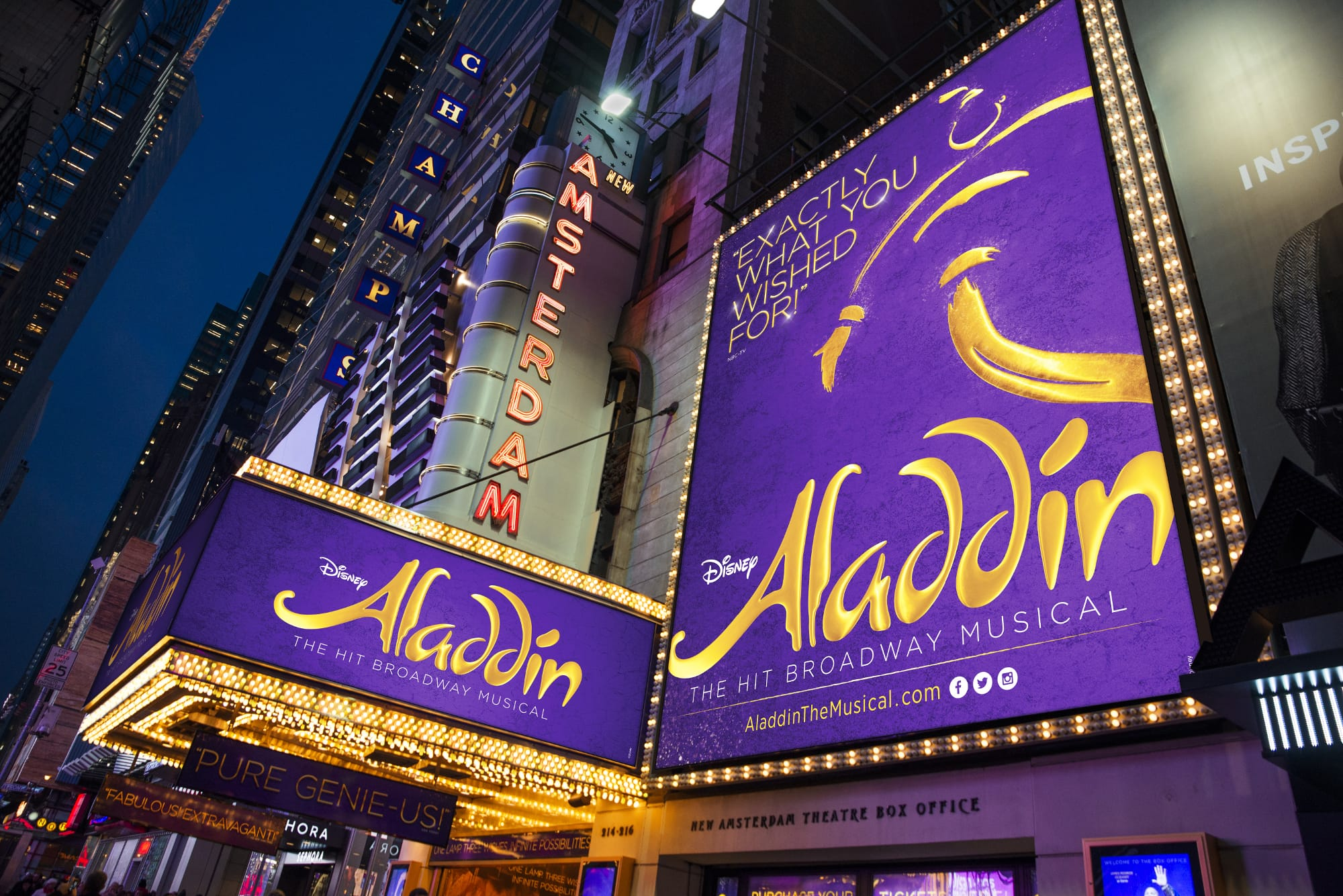 Disney ALADDIN - New Amsterdam Theatre, New York
